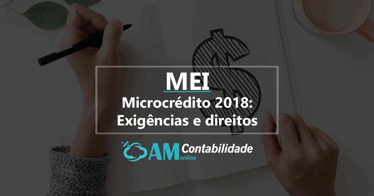 Microcrédito para MEI 2018: Exigências e direitos